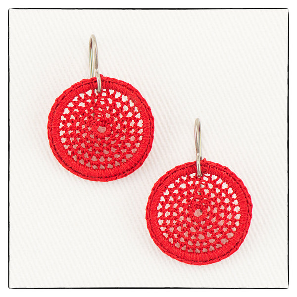 Lucy Mini Small Round Earrings 2cm