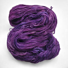 A purple skein of yarn