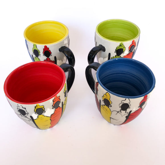 Ceramic coffee mugs (Set of 4)