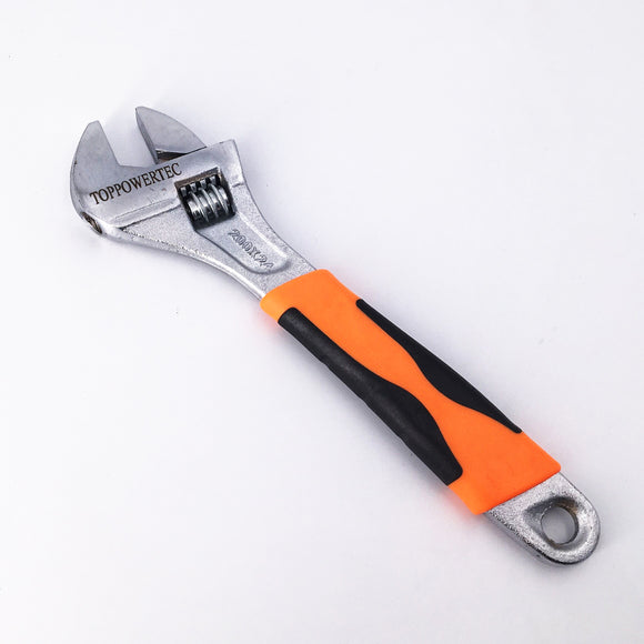 Toppowertec 8 Inch Adjustable Wrench Adjustable Spanner Wide Mouth Wrenches 28 x 213mm (8
