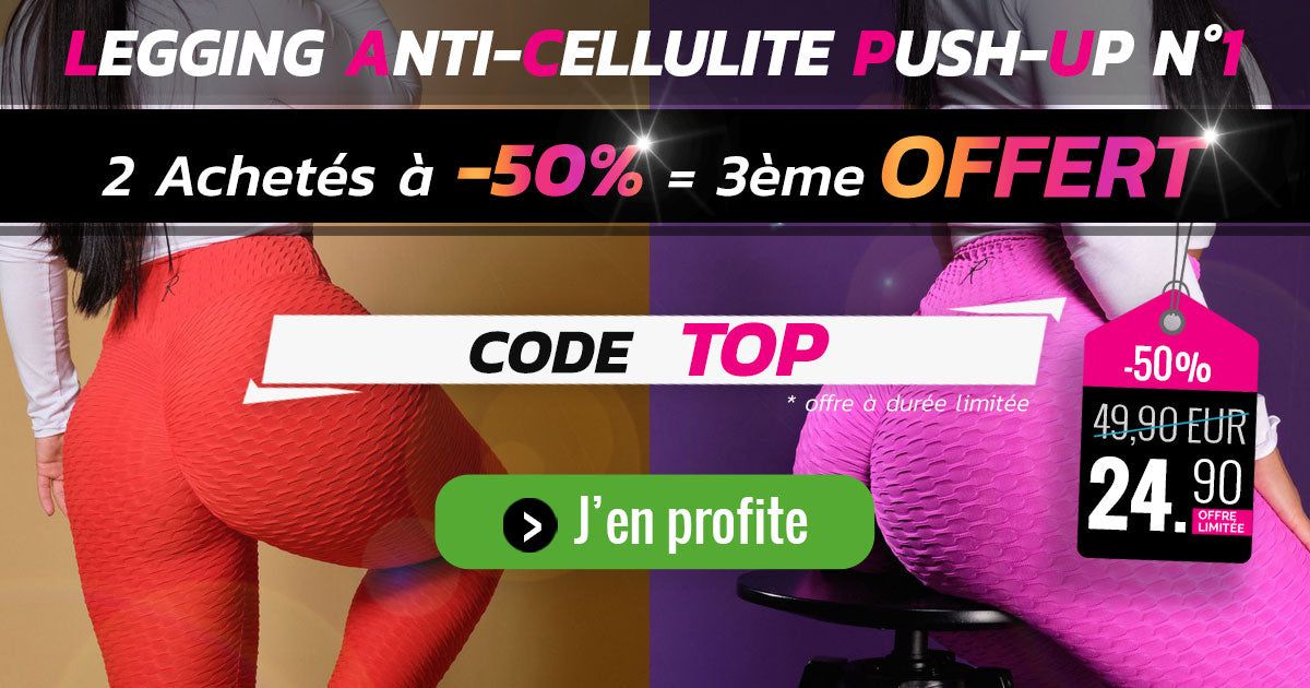 Legging Anti-Cellulite Push-Up Gymeltics - Code Promo TOP