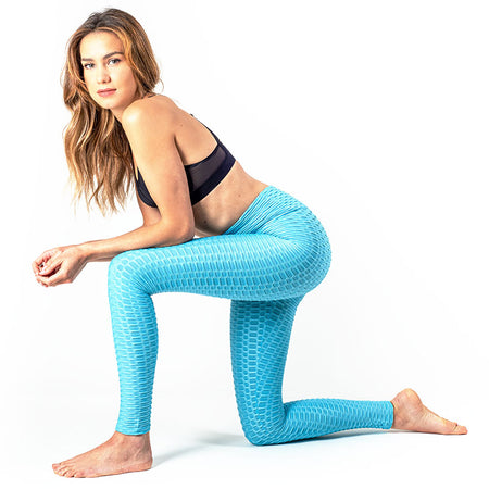 LEGGING ANTI-CELLULITE PUSH-UP BLEU OCÉAN