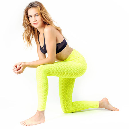 LEGGING ANTI-CELLULITE PUSH-UP JAUNE
