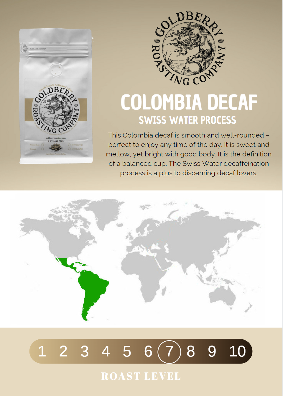 Wholesale - Colombia Decaf - Swiss Water Process