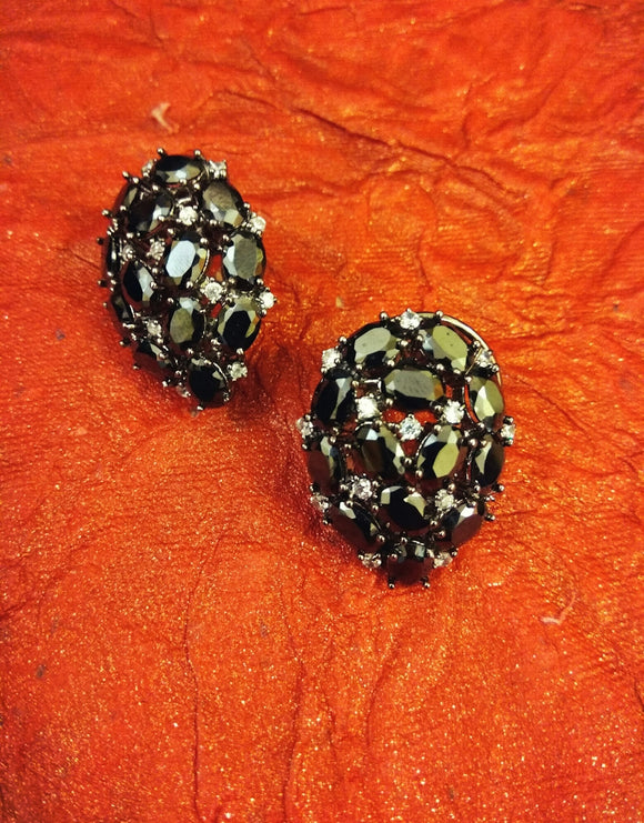 Black Stud Earrings - Ziva Art Jewellery