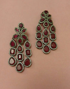 Victorian Ruby Earrings - Ziva Art Jewellery