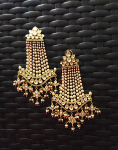 Pearl Chand Bali Earrings - Ziva Art Jewellery