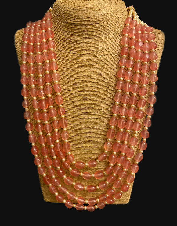 Panchlada Rose rani haar necklace - Ziva Art Jewellery
