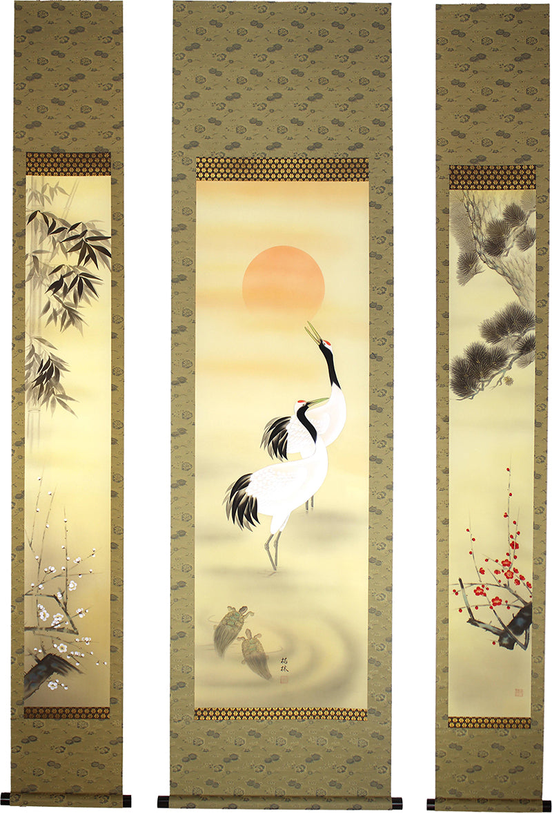 F017 Set of Three hanging scrolls