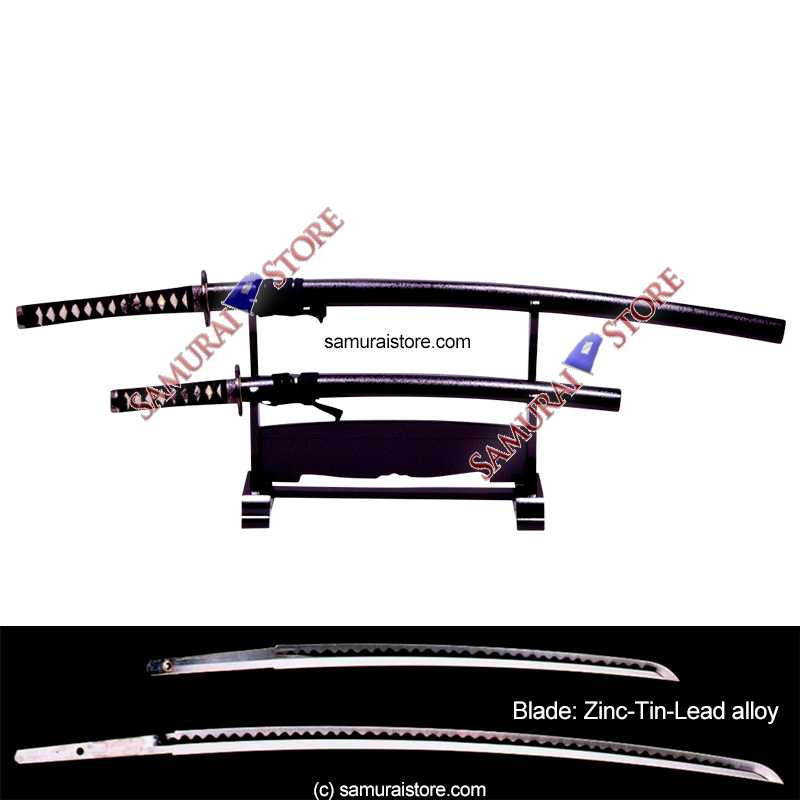 A Pair of Display Replica Sword MATTE BLACK