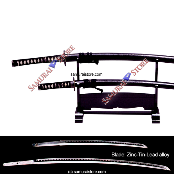 A Pair of Display Replica Sword MATTE BLACK - SAMURAI STORE