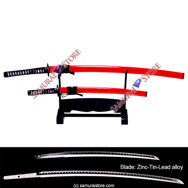 A Pair of Display Replica Sword SANADA RED