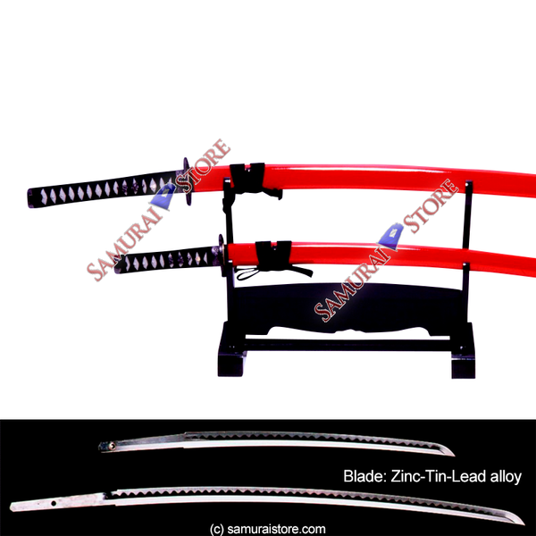 A Pair of Display Replica Sword SANADA RED - SAMURAI STORE