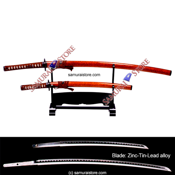 A Pair of Display Replica Sword GOLD BROWN - SAMURAI STORE
