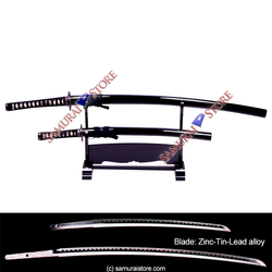 A Pair of Display Replica Sword Glossy BLACK - SAMURAI STORE