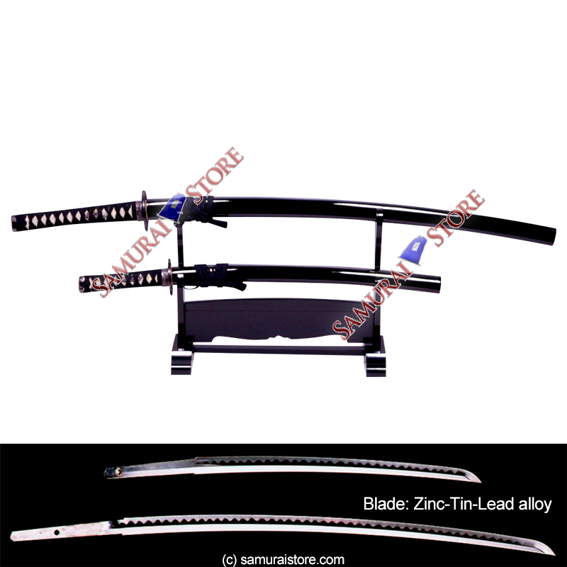 A Pair of Display Replica Sword Glossy BLACK
