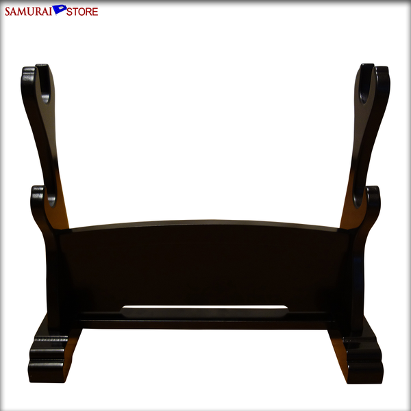 Sword Stand DELUXE - Horizontal Double Hook PRE-ASSEMBLED - SAMURAI STORE