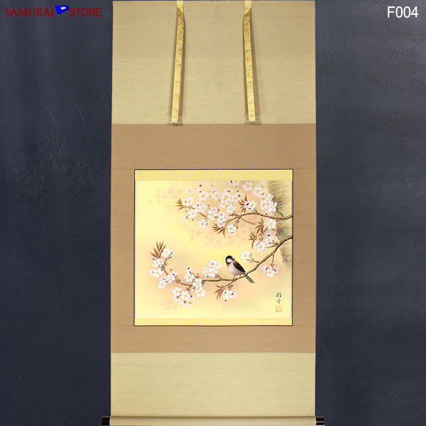 Hanging Scroll Sakura Cherry Blossoms - Kakejiku F004