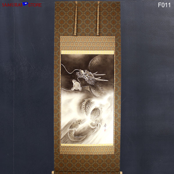 Hanging Scroll Painting Dragon in Heaven - Kakejiku F011 - SAMURAI STORE