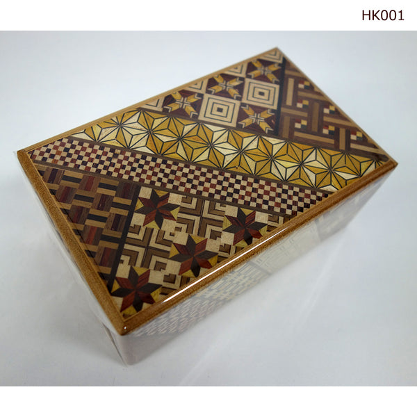 Yosegi Craft Puzzle Box 21 Steps L (HK001) - [SAMURAI STORE]