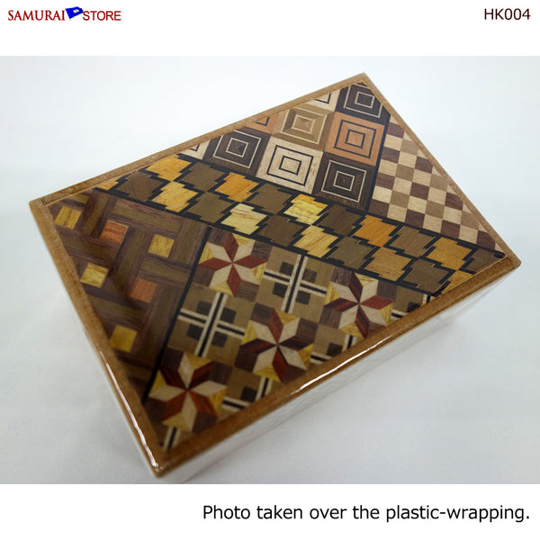 Yosegi Craft Puzzle Box 12 Steps (HK004)