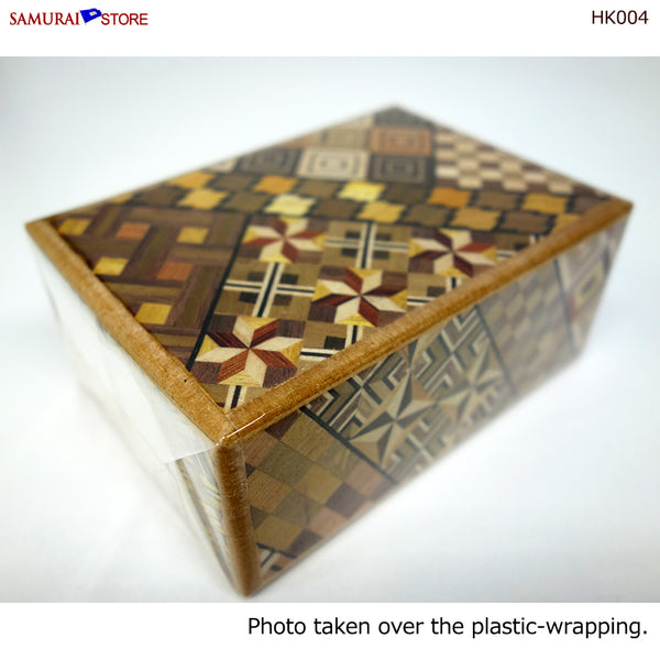 Yosegi Craft Puzzle Box 12 Steps (HK004) - [SAMURAI STORE]