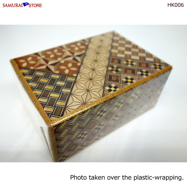 Yosegi Craft Puzzle Box 7 Steps (HK006) - SAMURAI STORE