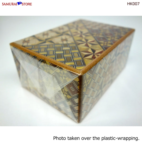 Yosegi Craft Puzzle Box 4 Steps (HK007) - SAMURAI STORE