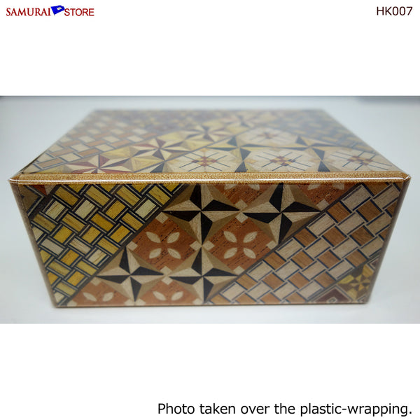 Yosegi Craft Puzzle Box 4 Steps (HK007)