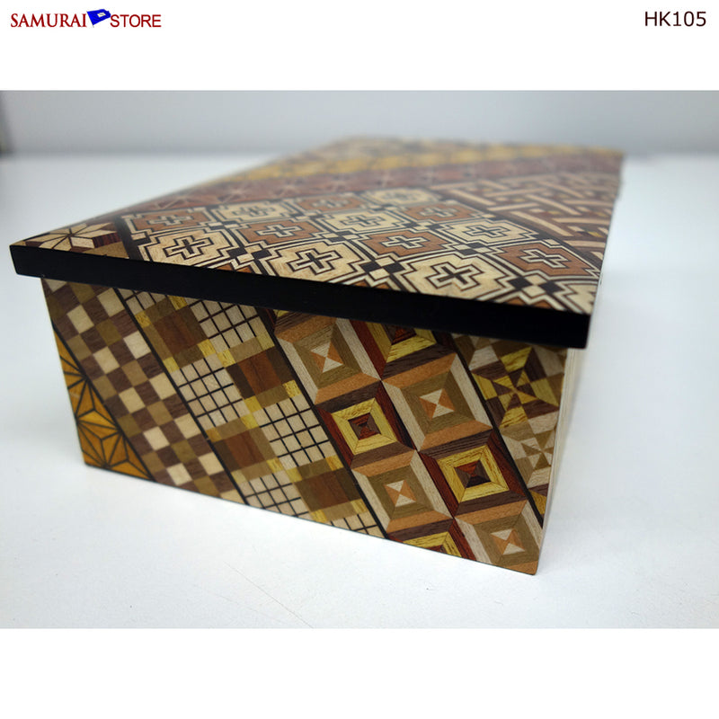 Yosegi Craft Accessory Box (HK105) - SAMURAI STORE