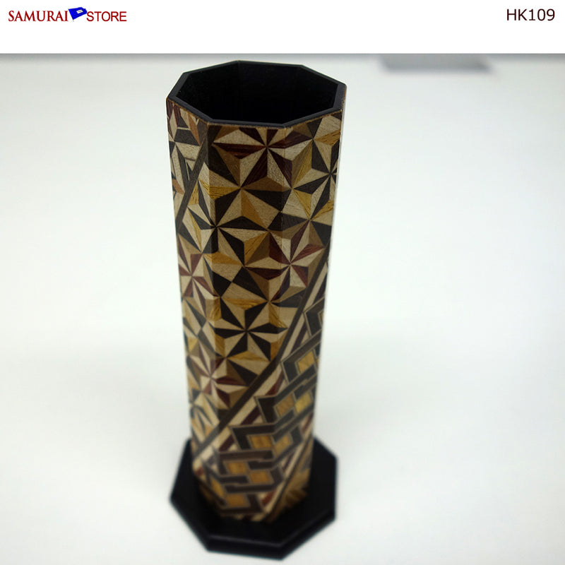 Yosegi Marquetry Craft Single-Flower Vase (HK109)