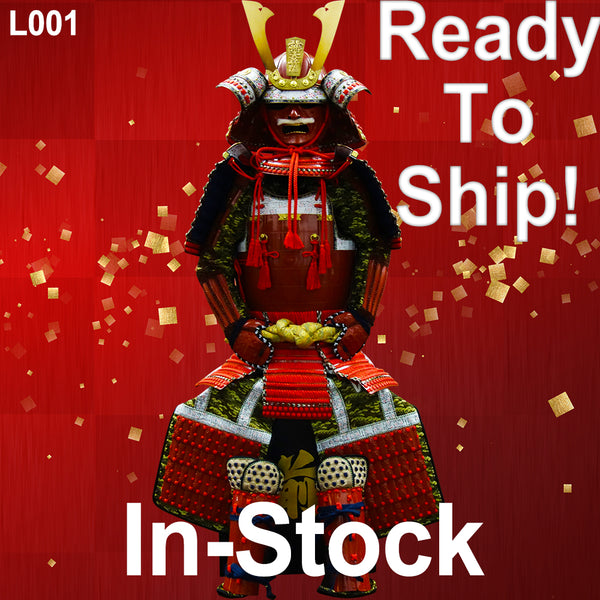 (Ready-To-Ship) L001 Red Lacquered Samurai Armor - [SAMURAI STORE]