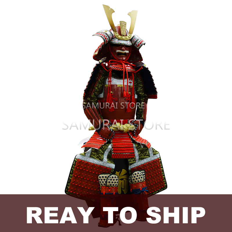 (Ready-To-Ship) L001 Red Lacquered Samurai Armor - SAMURAI STORE