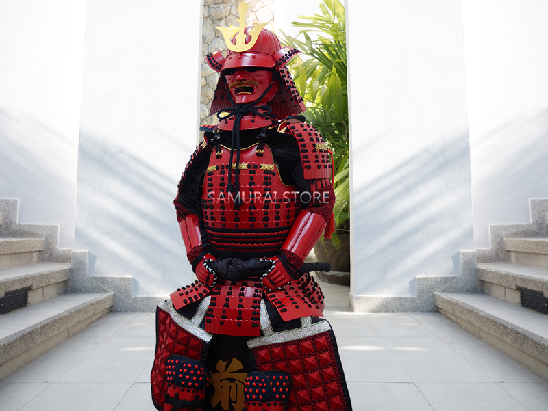 (Ready-To-Ship) L004 Red Iyozane Armor - SAMURAI STORE