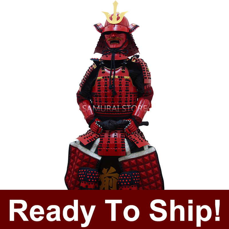 (Ready-To-Ship) L004 Red Iyozane Armor - [SAMURAI STORE]