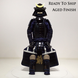 (Ready-To-Ship) L033 Black Okegawa Suit of Armor w/ Aged Finish - SAMURAI STORE