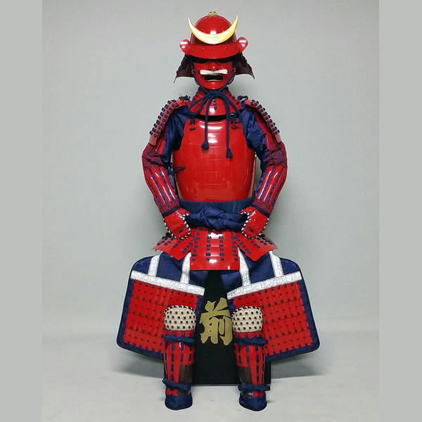(Ready-To-Ship) L049 RED Okegawa Suit of Armor w/Darkblue lacing