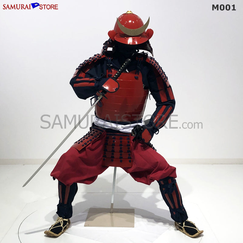 M001 Samurai Armor Warrior Complete Outfits Package RED - SAMURAI STORE