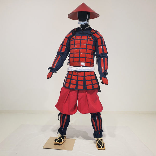 M003 Tatami Karuta folding Armor Complete Outfits Package RED - SAMURAI STORE