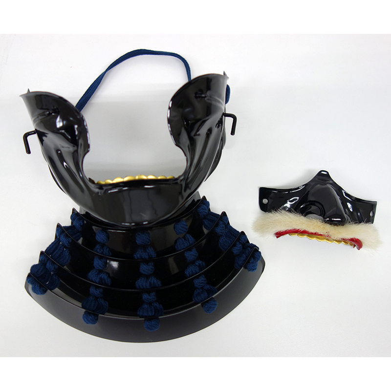 Mempo Mask Basic BLACK & BLUE (Ready-To-Ship) - SAMURAI STORE