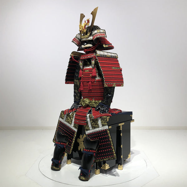 (Ready-To-Ship) N014 Luxurious Red Armor KURENAI - [SAMURAI STORE]