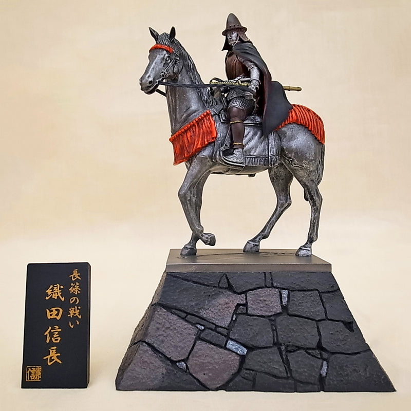 Statue - Oda Nobunaga Riding on Stone Wall KS012 - [SAMURAI STORE]