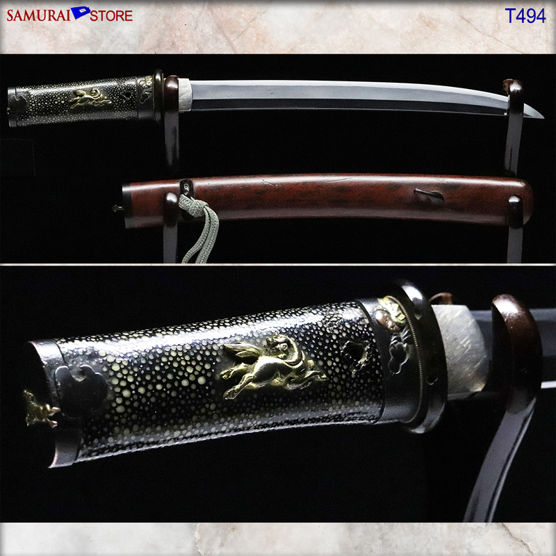 T494 Tanto Short Sword dagger - Antique - [SAMURAI STORE]
