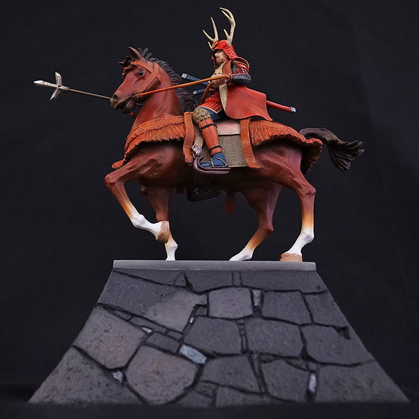 Statue - Sanada Yukimura Figure on Stone Wall KS010