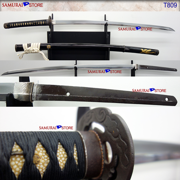 T809 Katana Tachi Long Sword TADAYOSHI - Antique