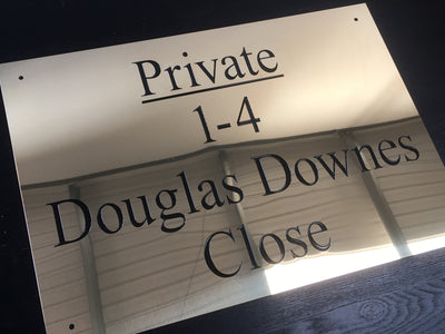 Deep Engraved Brass Plate