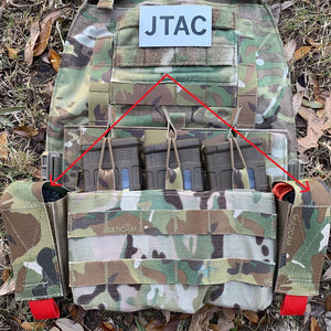 tuckable tourniquet pouch works with both tall and short tactical molle pouches