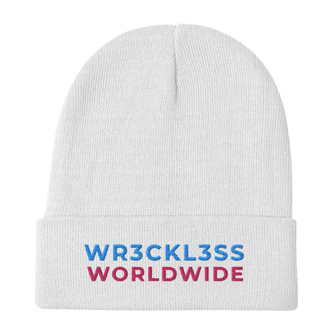 WR3CKL3SS Embroidered Beanie