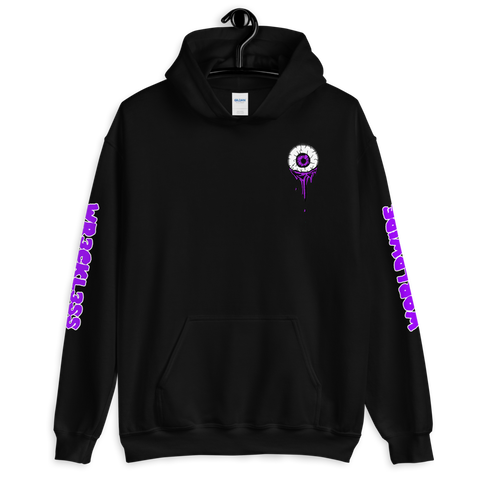 Melting Eye Hoodie (Bright Purple)