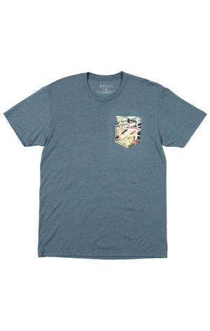Marley Apparel Indigo Pocket T-Shirt